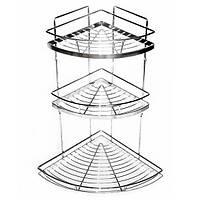 Полка для ванной угловая 3-ярусная 55*30*30 см