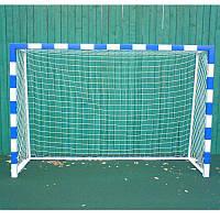 Сетка для ручного мяча простая игровая Шнур 2 мм. Ячейка 100 х 100 мм.