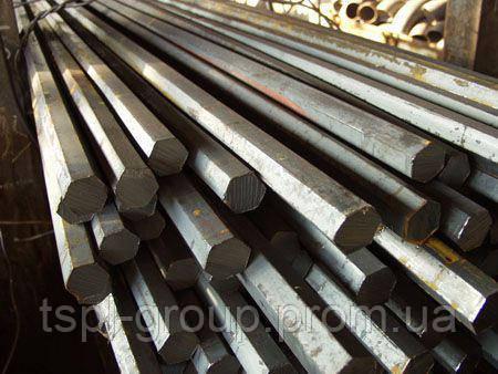 Калиброванный шестигранник 12 мм сталь 40Х, h11