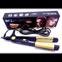 Утюжок для выпрямления и завивки волос Rozia HR-705, турмалиновый выпрямитель для волос, щипцы для выпрямления