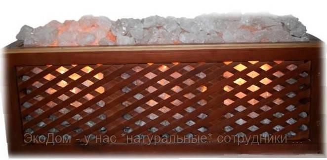Светильник в каркасе из ольхи или сосны - настольный