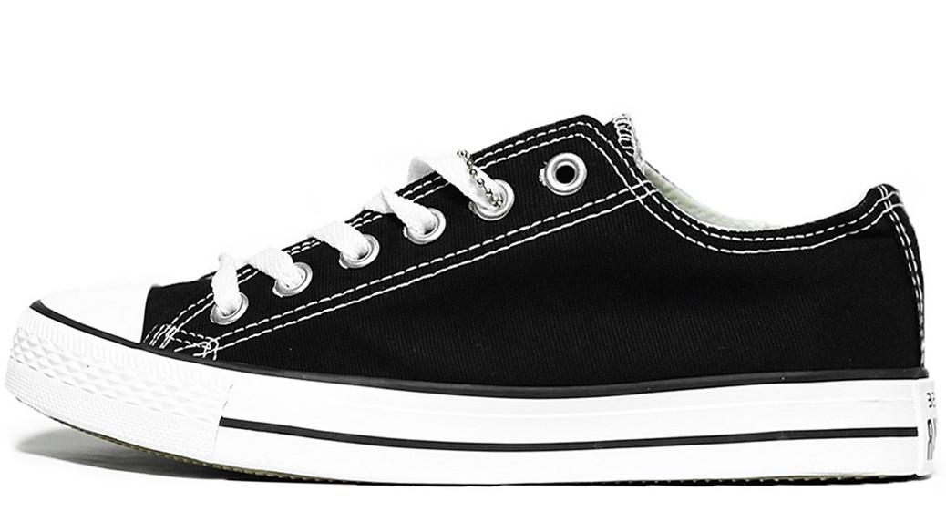 Мужские кеды Converse All Star (в стиле Конверс) черно-белые - Магазин обуви 83a987628b6