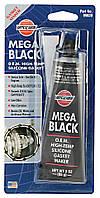 Versachem VC MEGA BLACK SILICONE O.E.M. 85g,герметик черный для ремонта двигателей