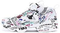 Мужские кроссовки Vetements x Reebok InstaPump Fury (в стиле Рибок ИнстаПамп) белые