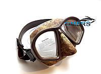Маска Bs Diver COVERT Brown для підводного полювання, фото 1