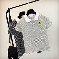 Женская футболка Поло в полоску, фото 1