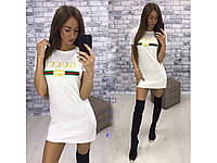 Женское короткое платье с надписью Gucci 29825