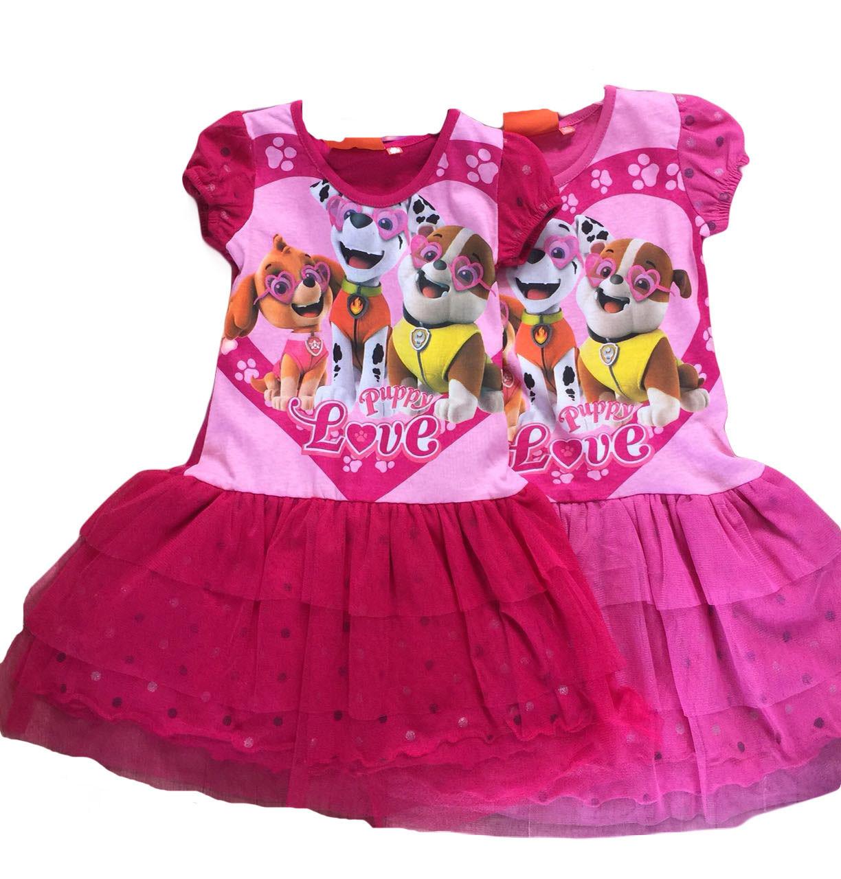 Платье трикотажное  для девочки оптом, Дисней, размеры 98-128, арт. 640-054