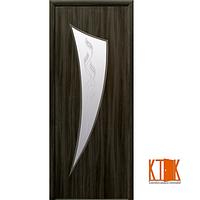 Межкомнатные двери Новый Стиль Парус ПВХ рисунком Р3 (кедр)