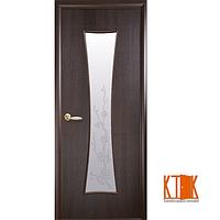 Межкомнатные двери Новый Стиль Часы ПВХ с рисунком Р4 (каштан)