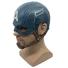 Маска Капитан Америка для взрослых, латексная. Косплей Мстители, фото 2
