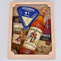 """Подарок мужчине """"вкусный набор"""" (ром, сыры, шоколад, кофе) Оригинальный подарок на день рождения, новый год"""