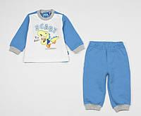Костюм теплый для мальчика Original Marines Disney baby 74 см бело-голубой