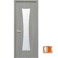Межкомнатные двери Новый Стиль Часы сатин (ясень патина) экошпон