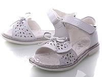 Детские белые босоножки на липучках для девочек Размеры 25-30