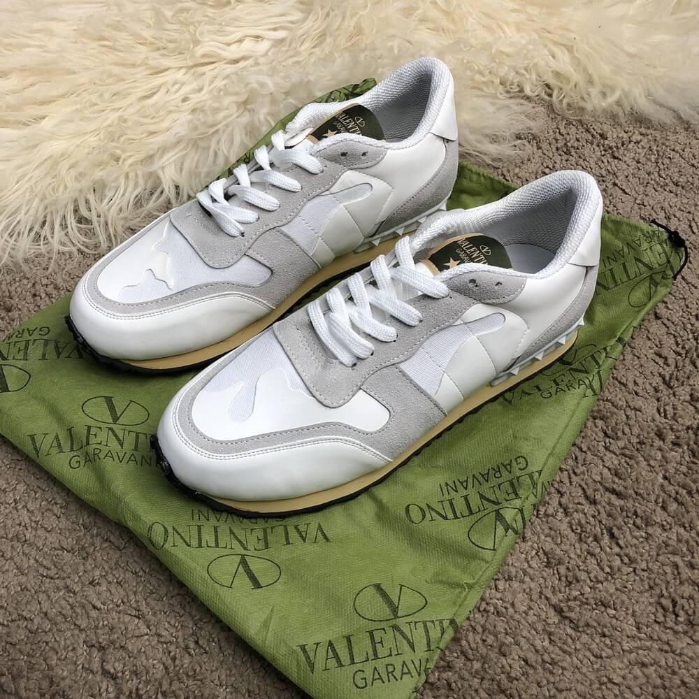 Кроссовки мужские Valentino Rockrunner 18570 белые