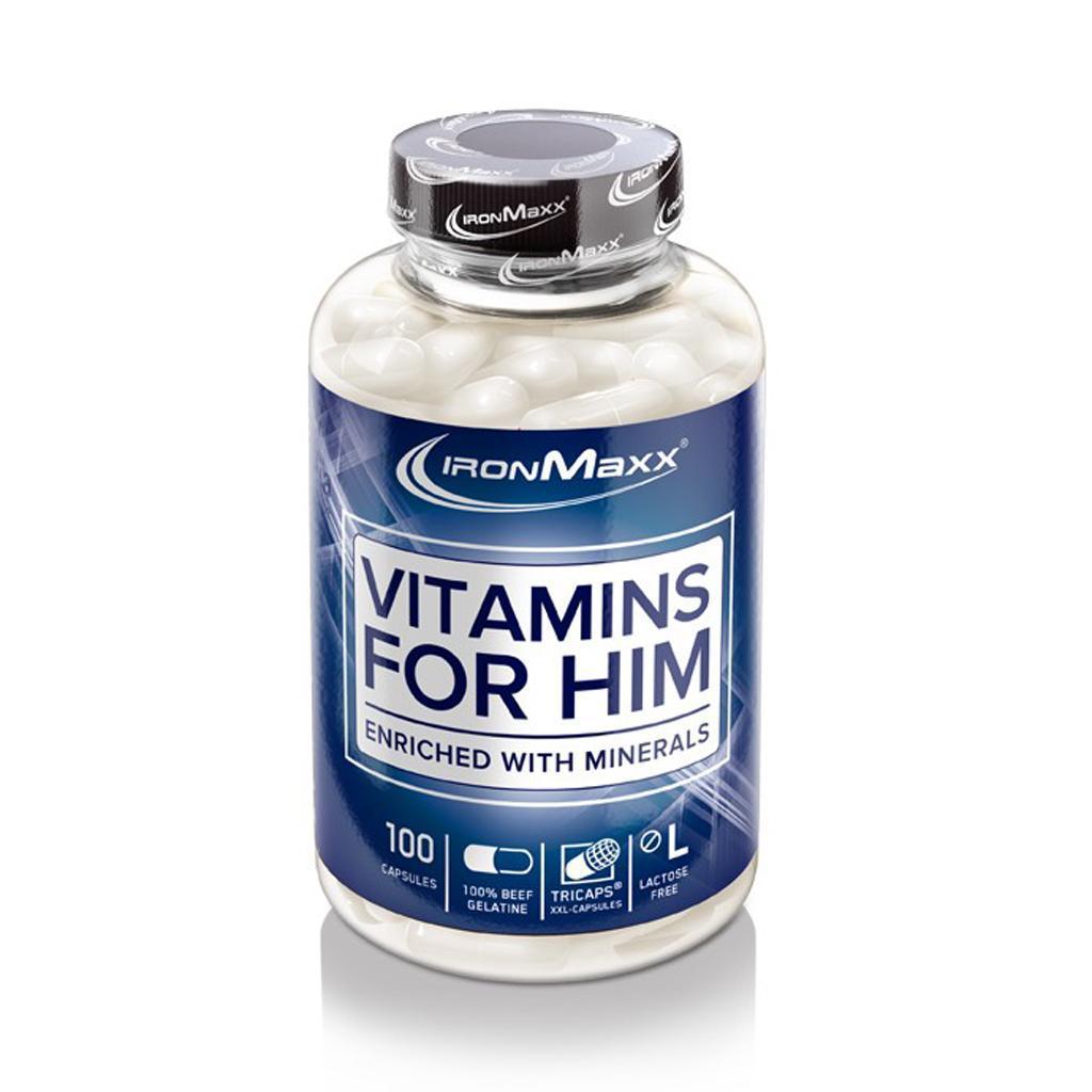Витамины для мужчин IronMaxx Vitamins for Him 100 caps