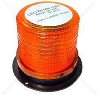 Мигалка светодиодная 30 LED желтая / маяк проблесковый оранжевый