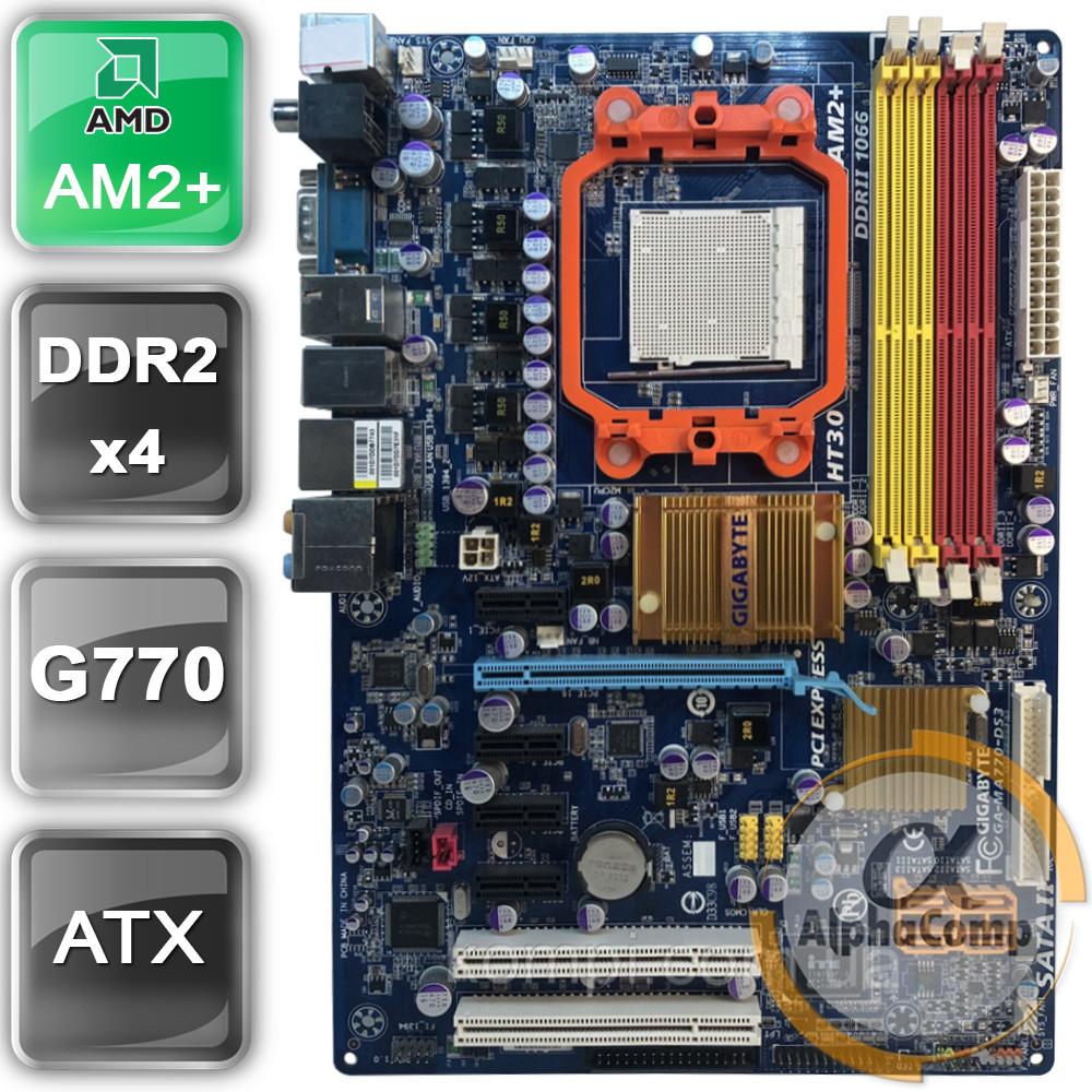 Материнська плата Gigabyte GA-MA770-DS3 (AM2+/AMD 770/4xDDR2) БО