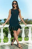Стильное платье из новой коллекции бутылочного цвета, фото 1