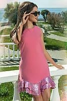 Эффектное платье цвета фуксия, фото 1