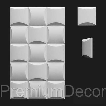 Гипсовые 3Д/3D панели БОРДО, фото 2