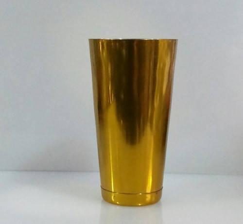 """Шейкер """"Бостон"""" нержавеющий круглый золотого цвета H 175 мм (шт), фото 2"""