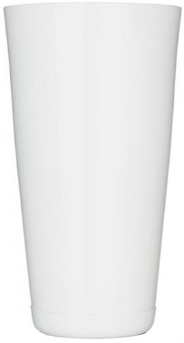 """Шейкер """"Бостон"""" нержавеющий круглый белого цвета H 175 мм (шт)"""