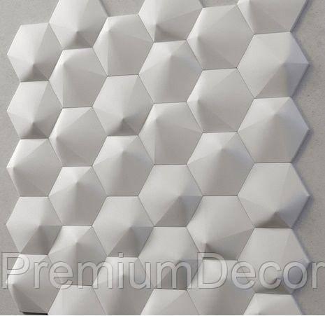 Гипсовые 3Д/3D панели ШЕСТИГРАННИК №2