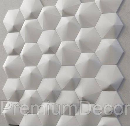 Гипсовые 3Д/3D панели ШЕСТИГРАННИК №2, фото 2