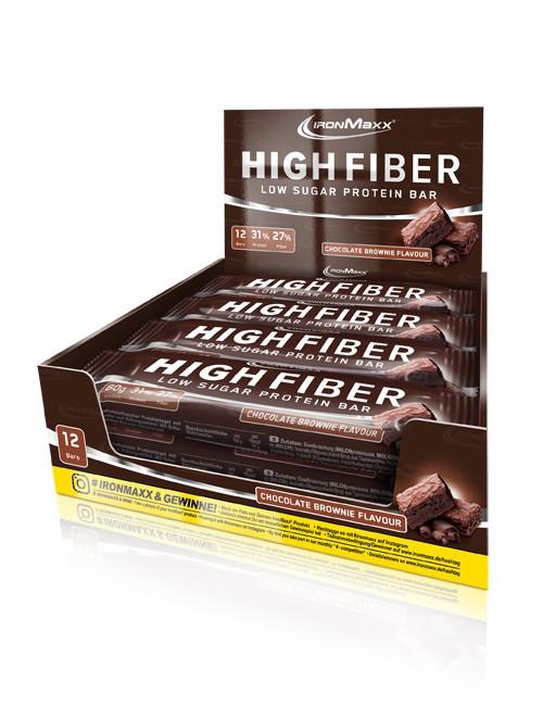 Протеиновые батончики IronMaxx High Fiber Protein Bar 12х60 g