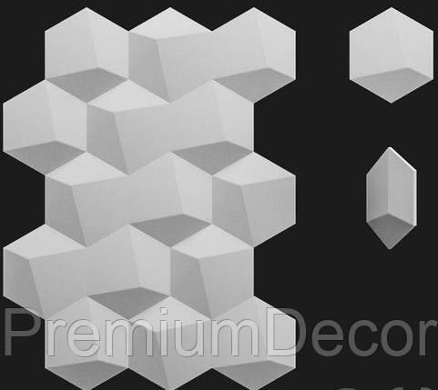 Гипсовые 3Д/3D панели ШЕСТИГРАННИК №3, фото 2
