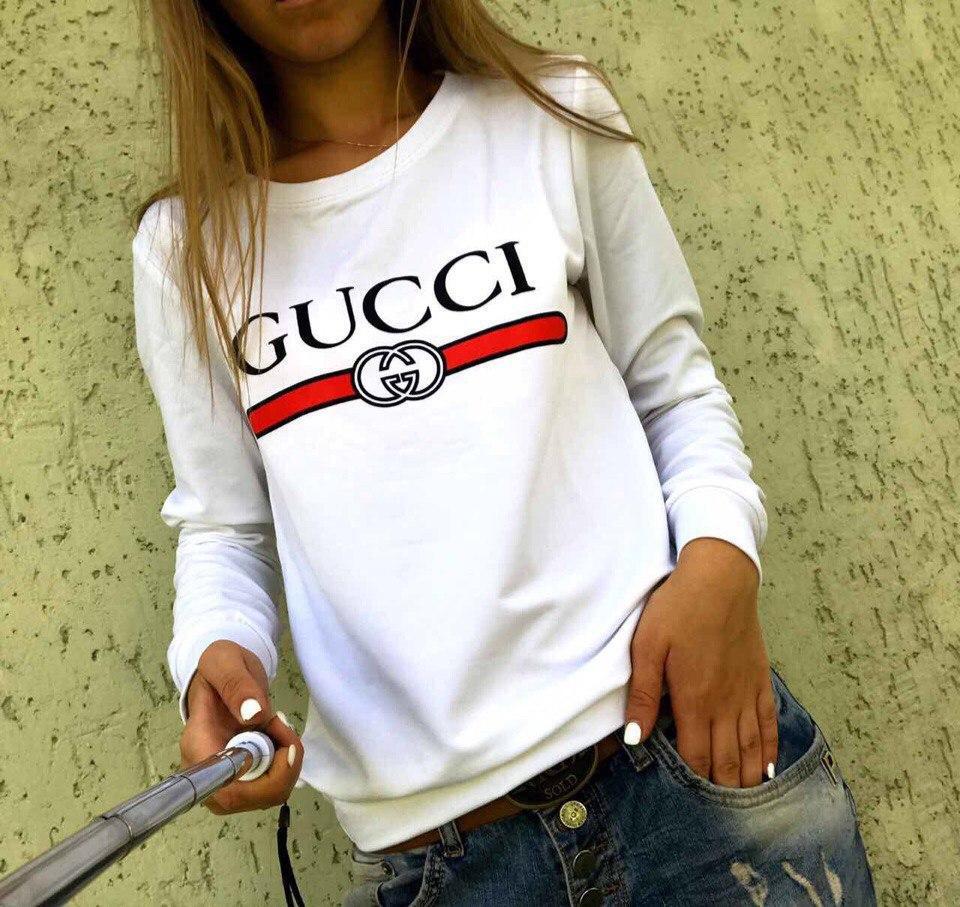 Свитшот женский с принтом Gucci Гуччи  |