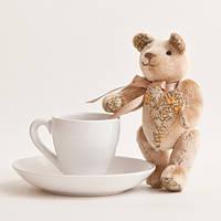 Мягкая игрушка авторской ручной работы медвежонок плюшевый  украшение детской комнаты
