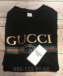 Свитшот мужской с принтом Gucci Гуччи  |