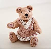 Мягкая игрушка авторской ручной работы медвежонок плюшевый  украшение детской комнаты, фото 1