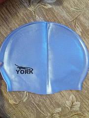 Шапочка для плавания голубая силиконовая - размер универсальный (23*18см в нерастянутом виде)