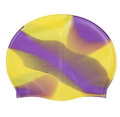Шапочка для бассейна разноцветная силиконовая - размер универсальный (23*18см в нерастянутом виде)