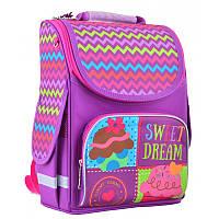 Ранец (рюкзак) - каркасный школьныйдля девочки фиолетовый - Принцесса, PG-11 Sweet dream, Smart 554466
