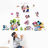 Наклейка виниловая Наклейка Микки и Минни Маус 3D декор