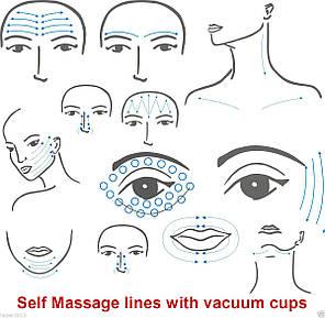 Банки для косметического массажа сухие вакуумные полимерно-стеклянные №4, фото 2