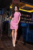 Невероятно стильное платье-футляр цвета фуксия, фото 1