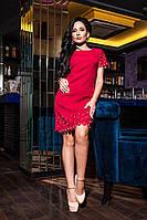 Супер модное платье сочного гранатового цвета, фото 1