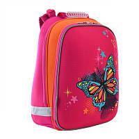 Ранец (рюкзак) - каркасный школьныйдля девочки розовый - Бабочки, PG-11 Extreme, 554549