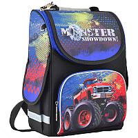 Ранець (рюкзак) - каркасный школьныйдля мальчика - Машинка монстер джип, PG-11 Monster showdown, 554533