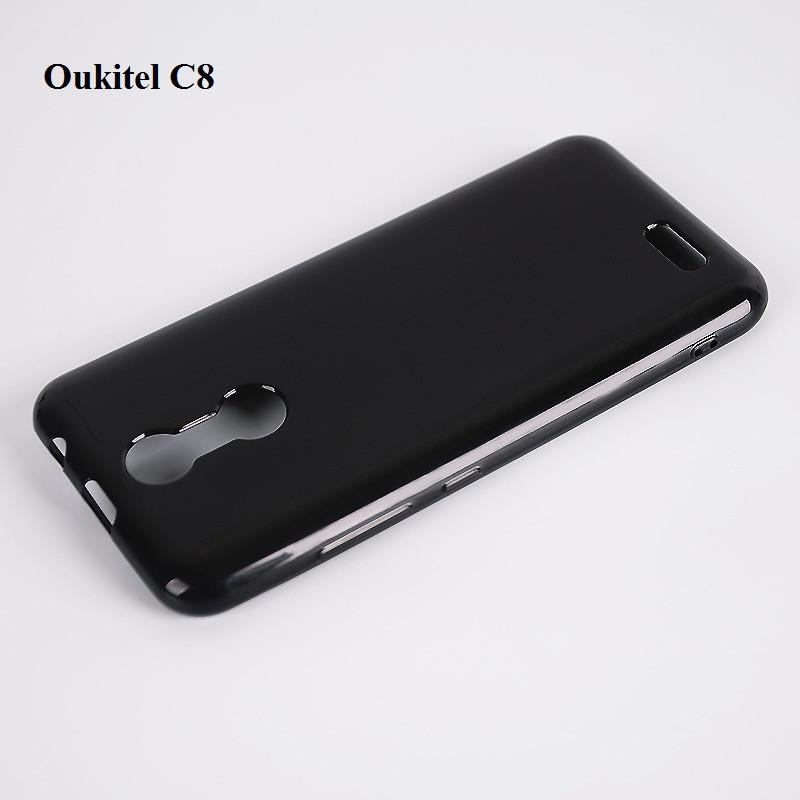 Силиконовый чехол, бампер для Oukitel C8 / Стекло в наличии /