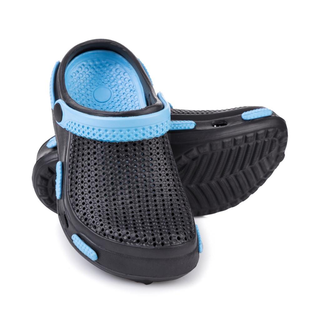 Сабо пляжные детские Spokey Fliper 31 Черный с голубым (s0096)