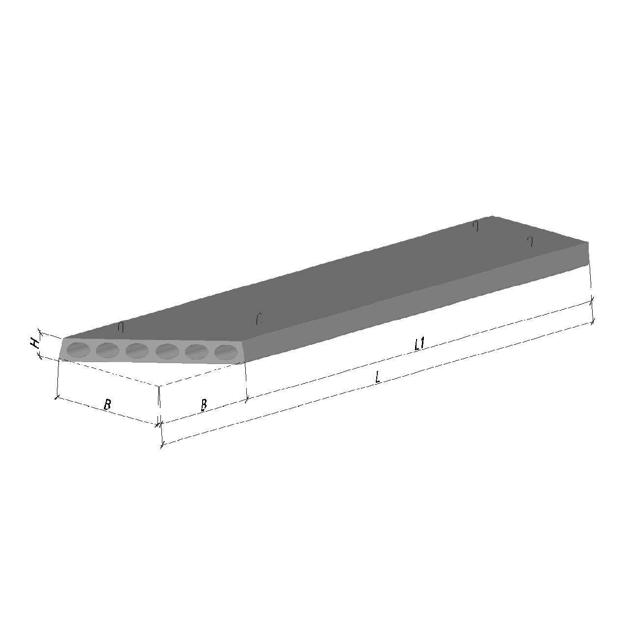 Плита перекрытия ПК 55-12-8 К2 582