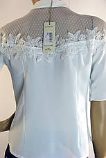 Нарядна біла блузка з коротким рукавом Miss Poiss, фото 3