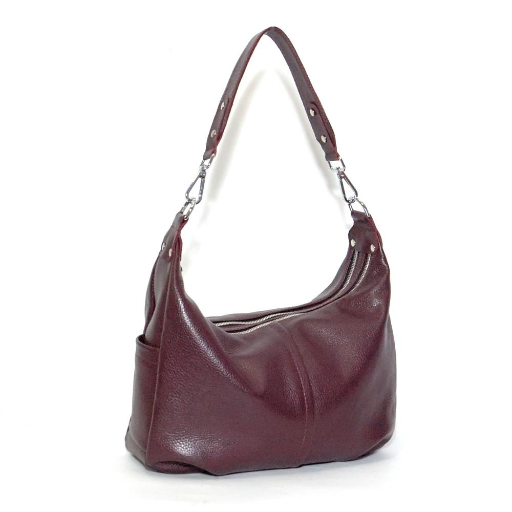 Женская сумка кожаная 34 виноградный флотар 01340104